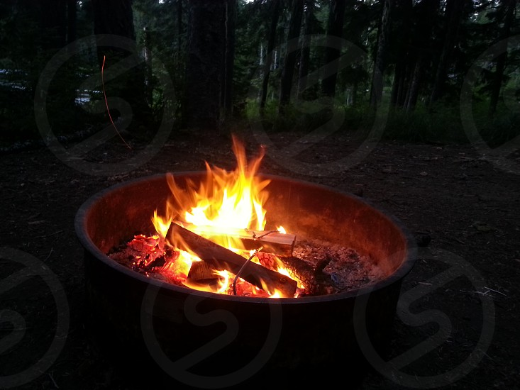 a campfire photo