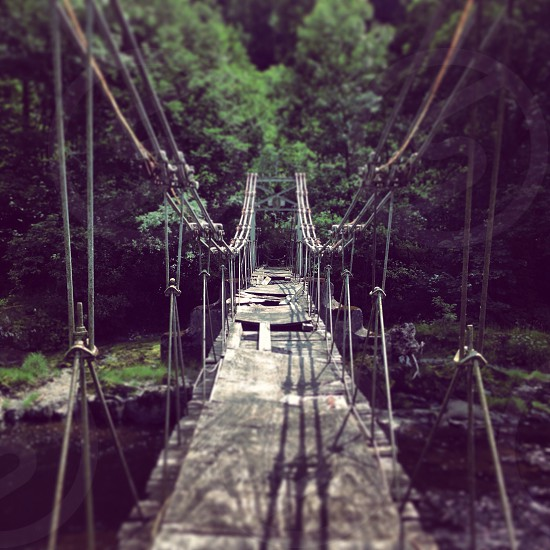 The Chain Bridge. Near Llangollen photo