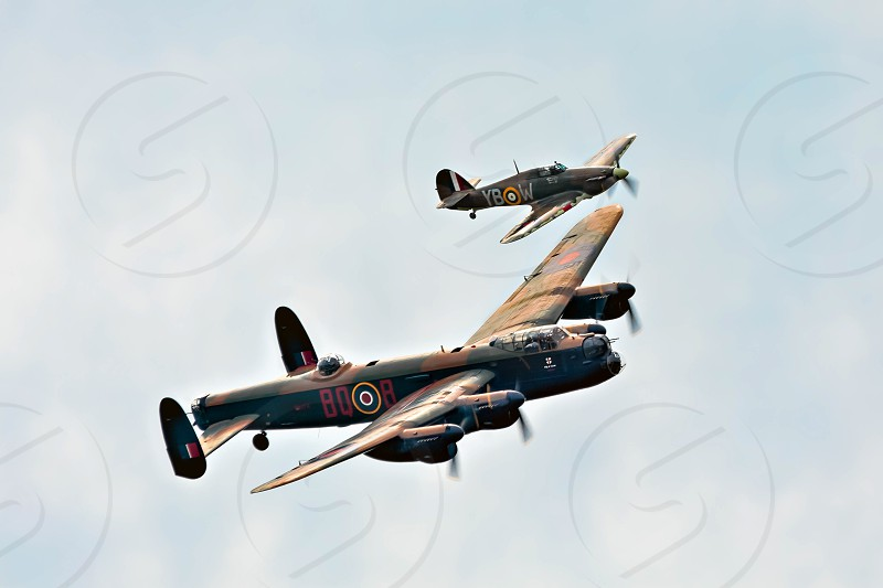 Phantom of the Ruhr Escorted by a Hurricane photo