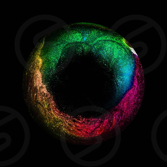 Abstract art macro colors colorful rainbow spectrum dark minimal iris eye details glitter sparkling magic photo