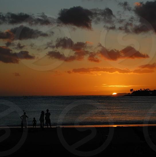 summer hawaii sunset sky landscape travel photo