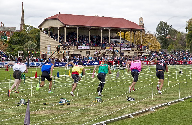 The famous Stawell Gift athletics meeting in rural Victoria Australia. photo