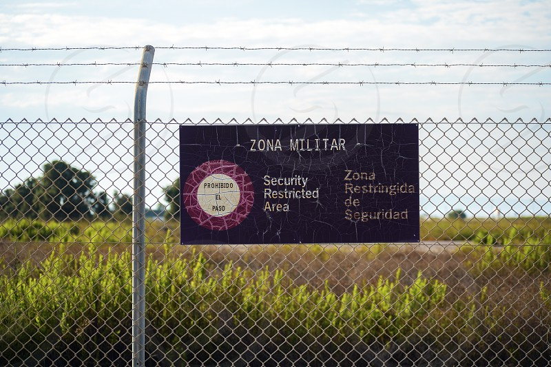 Military zone of restricted access in Spain photo