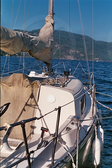 A small sailing boat on Vancouver Island BC.  photo