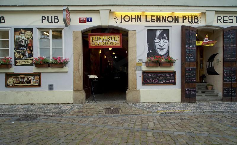 John Lennon Pub in Prague. Delicious. photo