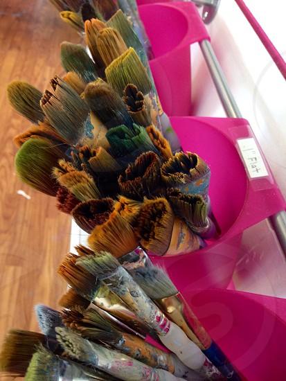 Paintbrushes waiting Dothan Alabama.  photo