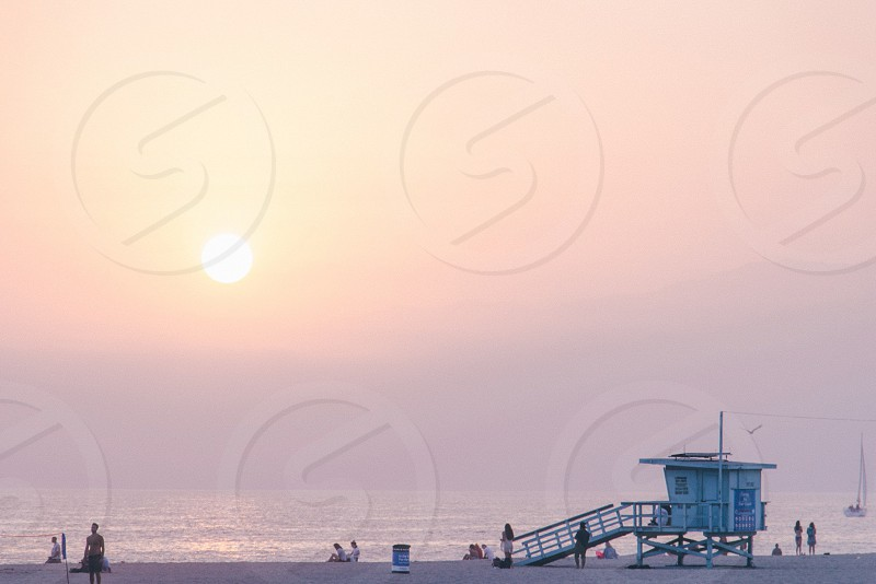 Sunset Venice California Los Angeles photo