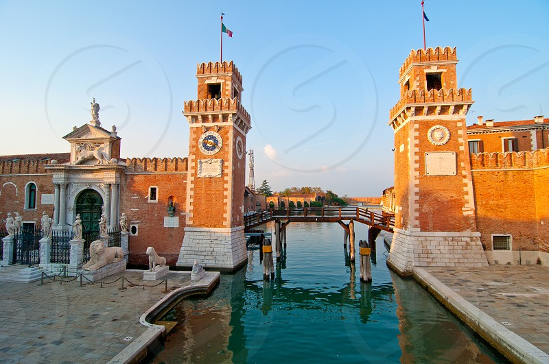 Venice Italy Arsenale ancient Serenissima militar structure photo
