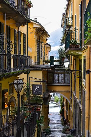 italy romance charm bellagio como rain italian mediterranean  photo