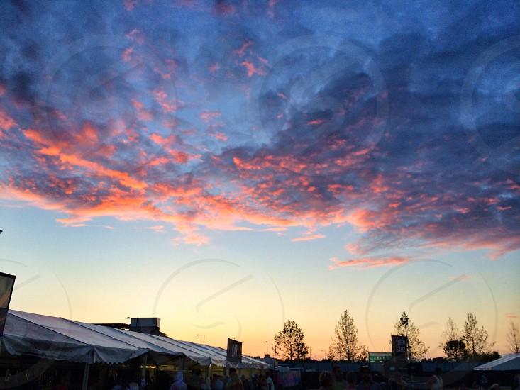 Festival sky. photo