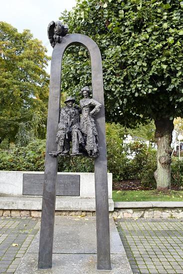 Sculpture to writers Rainis and Aspazija in Jurmala Latvia. photo