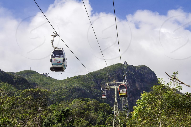 cable car to the langkawi mountain photo