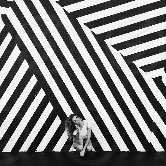 Stripes miami wynwood art street art female florida  photo