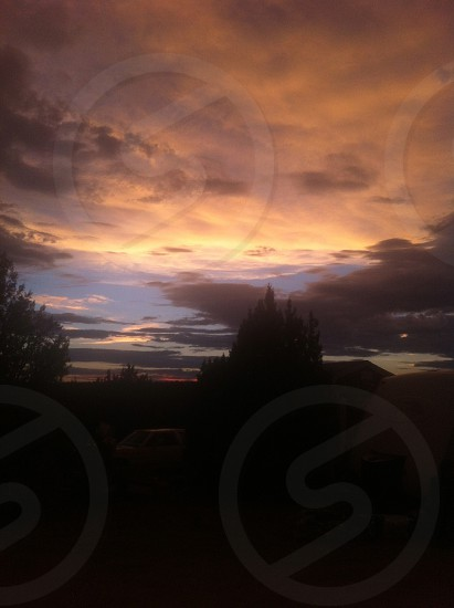 New Mexico sun set  photo