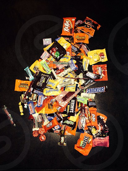 unopened assorted-brand candy pack lot photo