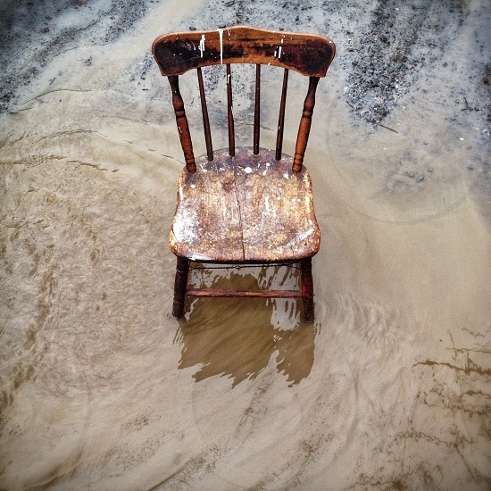 Chair in the water photo