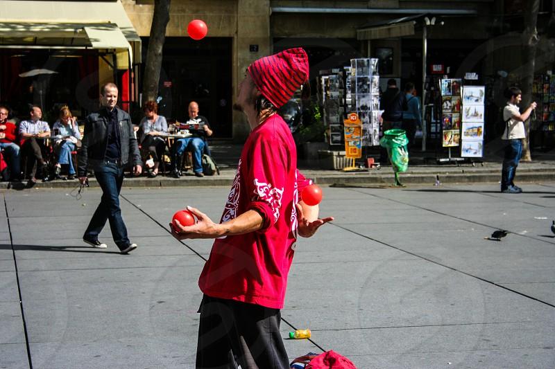 Street performer in Paris FR photo