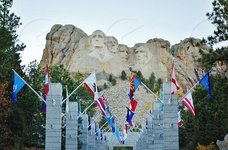 Mount Rushmore National Memorial in Rapid City South Dakota photo