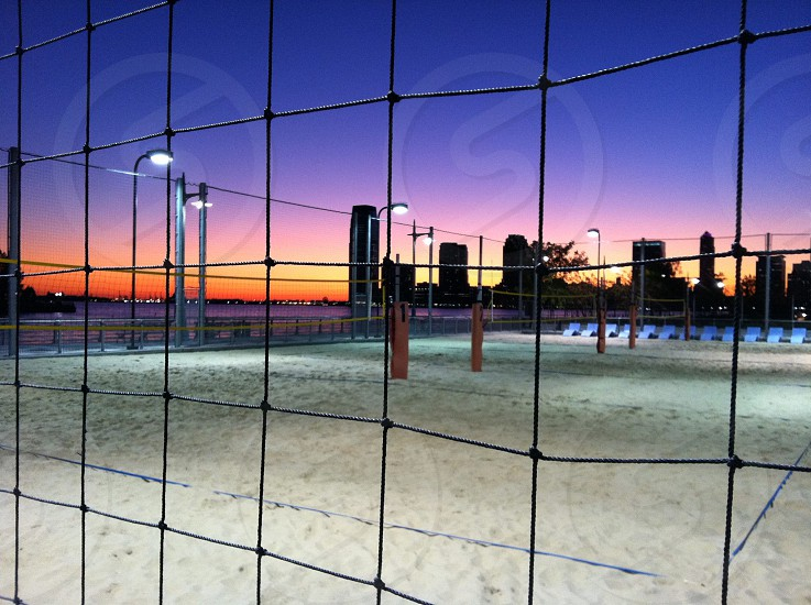 Nite volley ball in New York photo