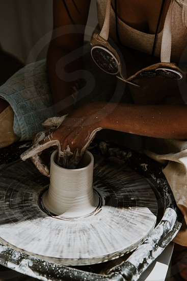 Pottery wheel photo