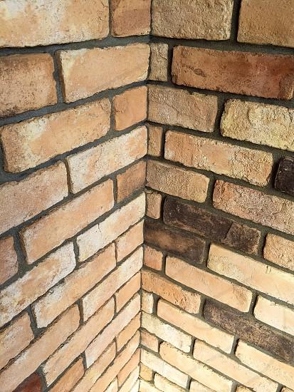 close photo of bricked corner structure photo