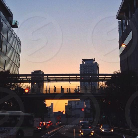 overpass night view photo