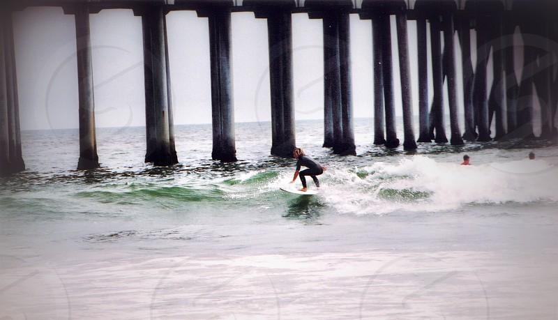 Huntington Beach pier. California  photo