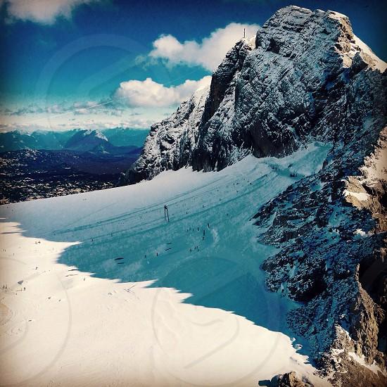 Skiing on Dachstein Glacier Austria. photo