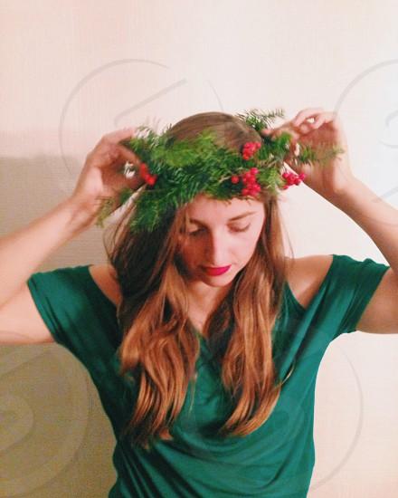 Wearing my christmas crown photo