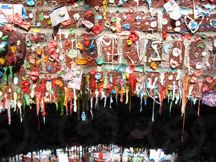 The infamous Seattle Gum Wall. photo