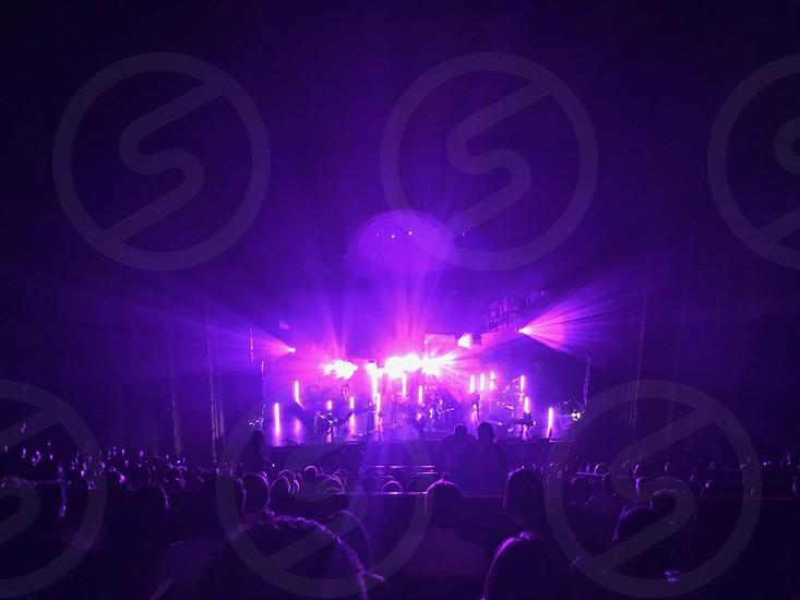Ultra violet; violet; light show; concert; music  photo
