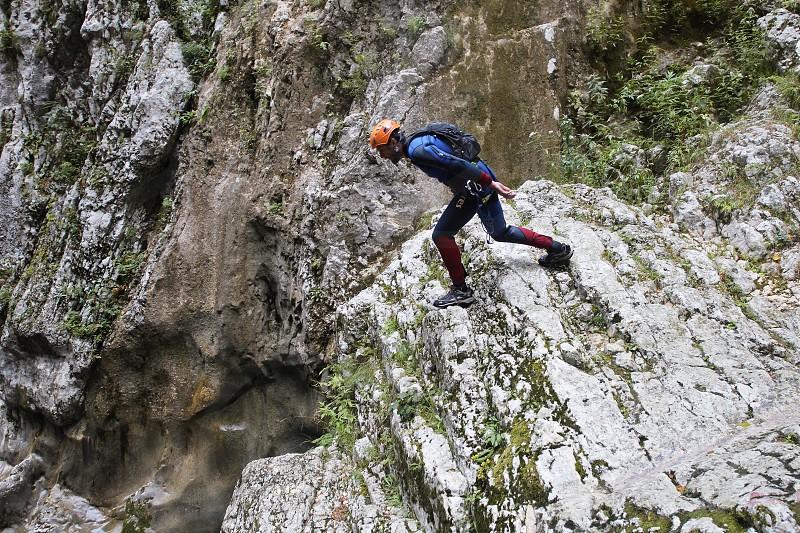 jump into a canyon Nevidio in Montenegro photo