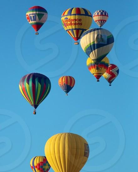 sundance balloons hot air balloons in a blue sky photo