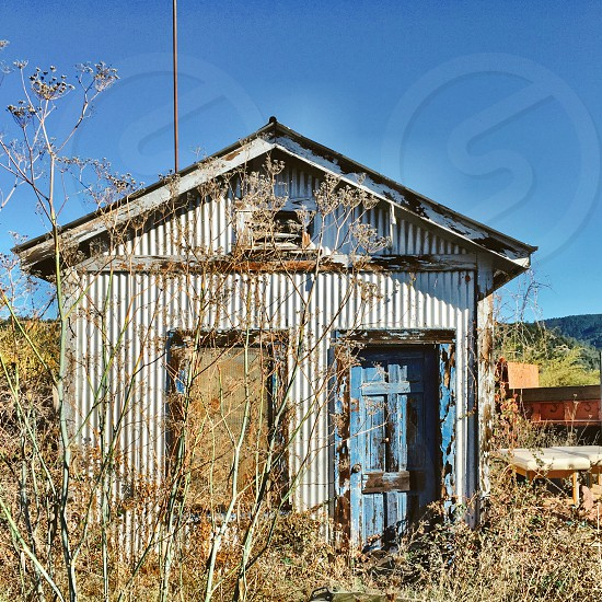 Old shack on country property photo