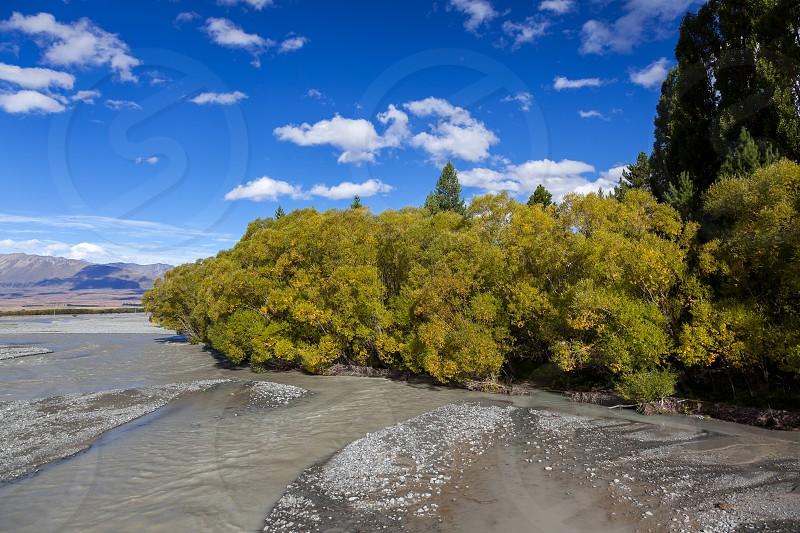 Scenic view of the Waitaki River photo