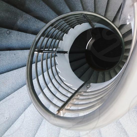 grey spiral ladder photo