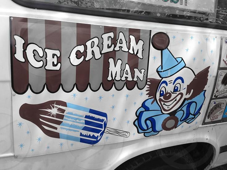 ice cream man car photo