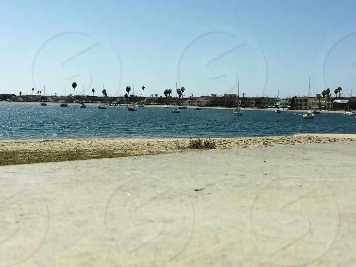 Beautiful view of Santa Clara point at San Diego's well known Mission Bay.  photo