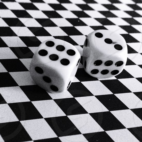 Lucky nices design game play black and white photo