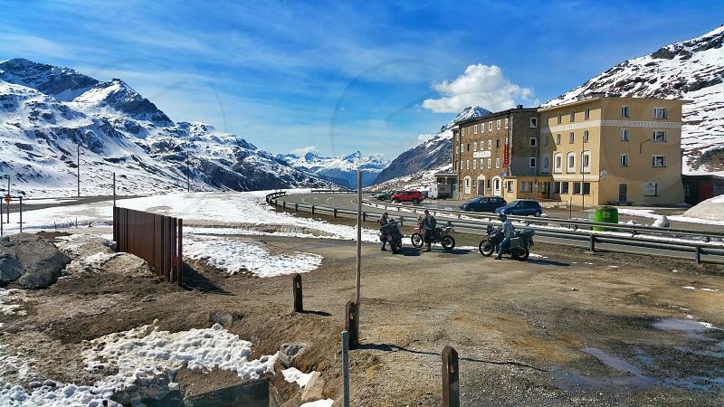 Moto ride to Bernina Pass Switzerland photo