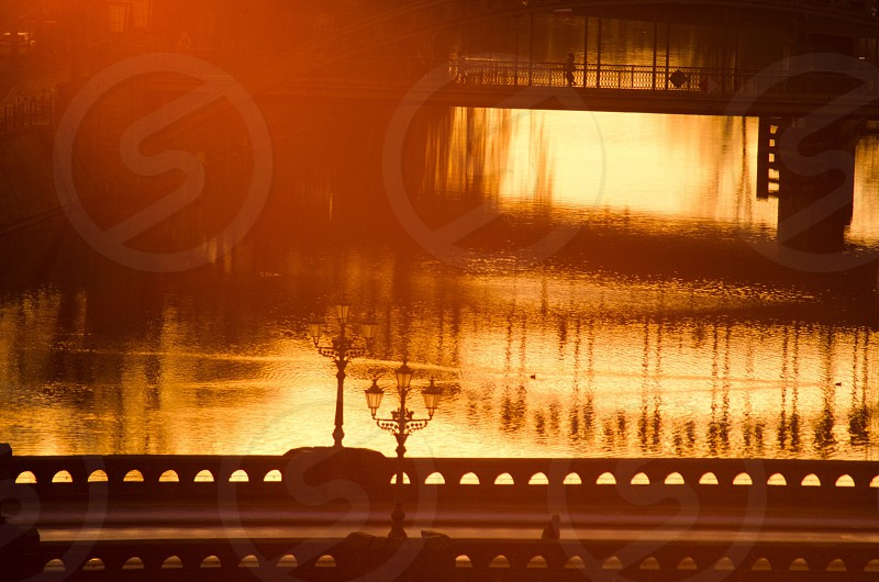 bridge silhouette view photo