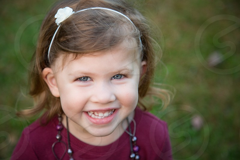 Toddler Girl Portrait in the Fall photo