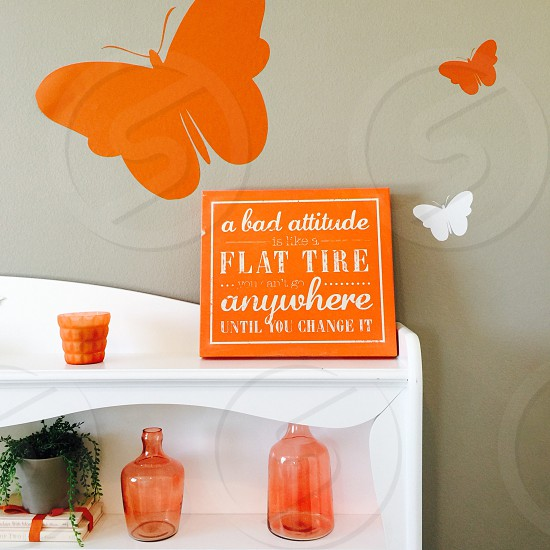 #orangedecor#butterflies#girlsroom photo