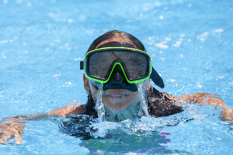 Summer fun in the swimming pool photo