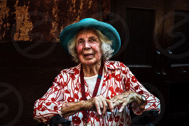 I had taken this portrait at Agra  India. This beautiful old lady was a traveler who traveled in India last year with his family and friends.  photo