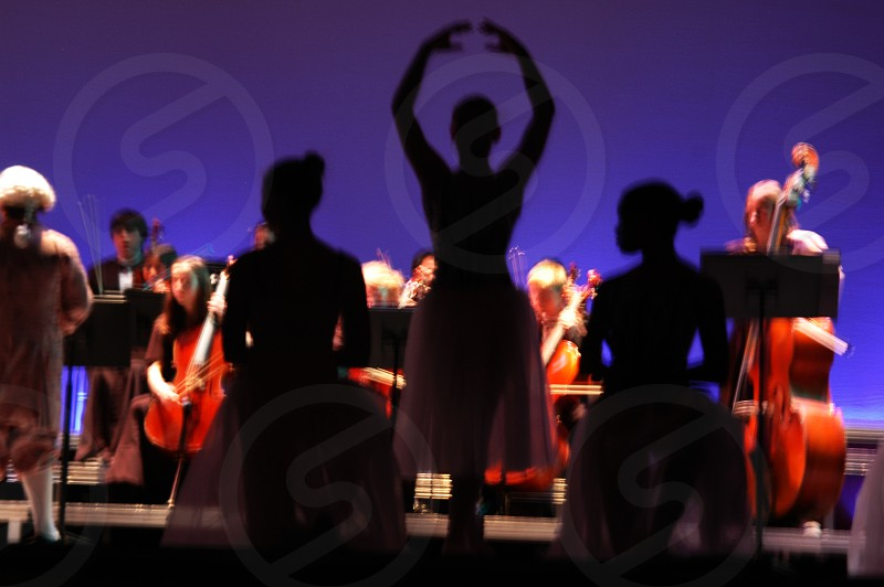 Ballerina silhouettes photo