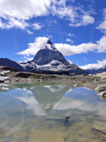rock mountain view photo