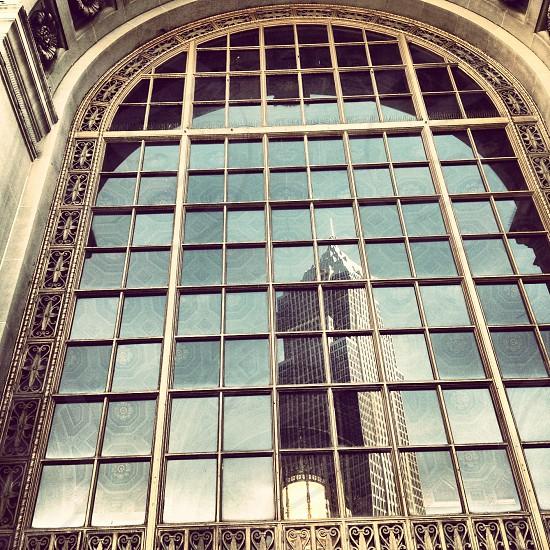 glass arch window photo