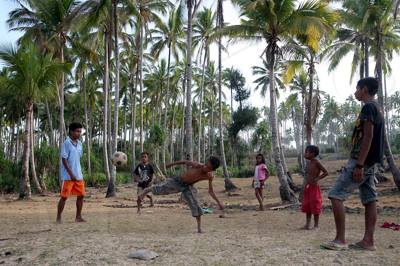 a  soccer field in the town of Viqueque in the south of East Timor in southeastasia.