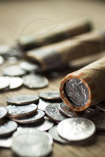 Financial planning rolling coins coins money change finance photo